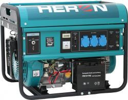 HERON EGM 55 AVR-1E Benzinmotoros áramfejlesztő, aggregátor, 1 fázis 5,5 kVA