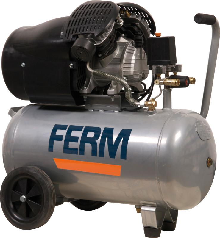 FERM kompresszor 3LE - 2200W - 50 L - olajos- CRM1039