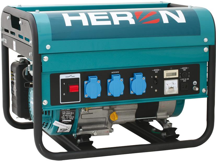 HERON EGM-25 AVR benzinmotoros áramfejlesztő, aggregátor, 1 fázis 2,3 kVA