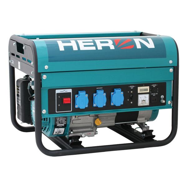 HERON EGM 30 AVR Benzinmotoros áramfejlesztő, aggregátor, 1 fázis 2,8 kVA
