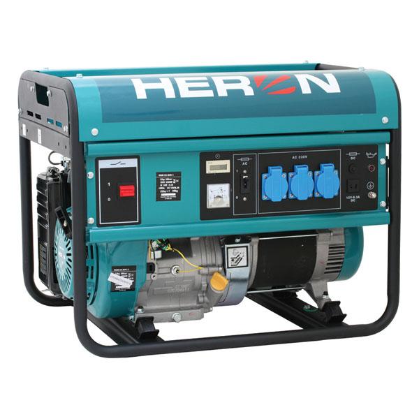 HERON EGM-55 AVR Benzinmotoros áramfejlesztő, aggregátor, 1 fázis 5,5 kVA