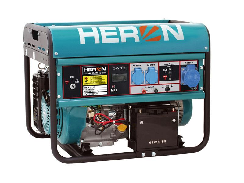 HERON EGM-68 AVR-1E Benzinmotoros áramfejlesztő, generátor, 1 fázis 7kVA