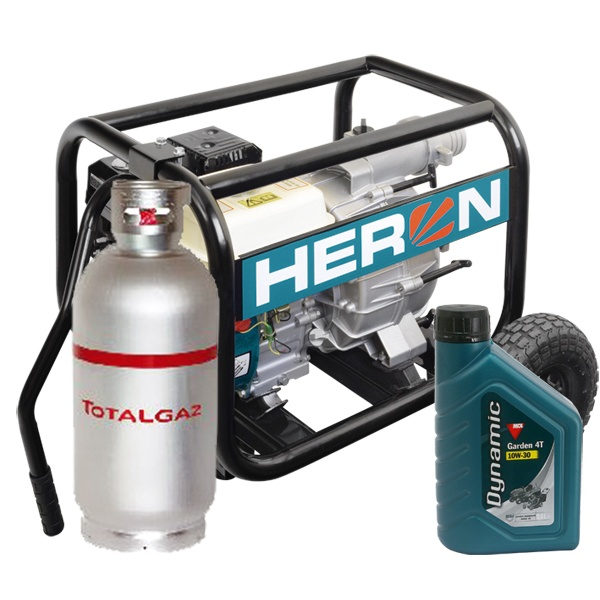HERON EMPH 80WG Benzin-gázmotoros zagyszivattyú, motoros szivattyú, vízszivattyú
