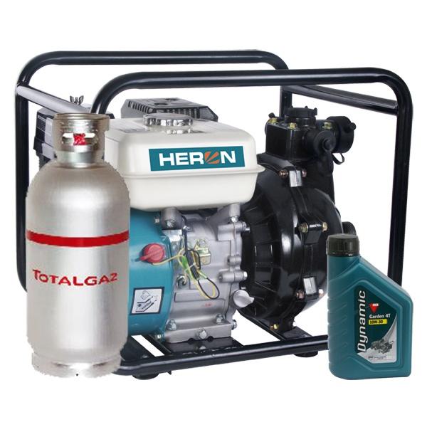 Heron benzin-gázmotoros nyomószivattyú, öntözőszivattyú 6,5 LE (EPPH 15-10)