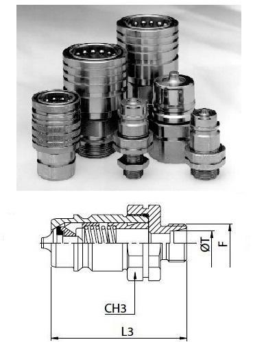 Hidraulikus gyorscsatlakozó dugó 12x1,5 külső menet