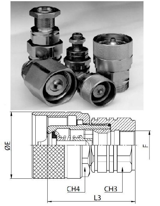 Hidraulikus menetes gyorscsatlakozó dugó 22*1,5 belső menet