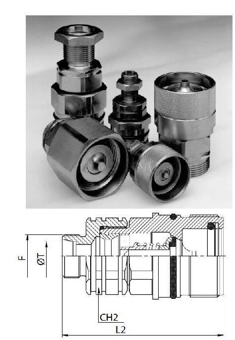 Hidraulikus menetes gyorscsatlakozó hüvely 26*1,5 külső menet