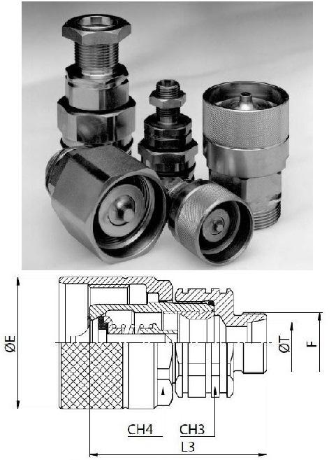 Hidraulikus menetes gyorscsatlakozó dugó M30*2 külső menet S2030