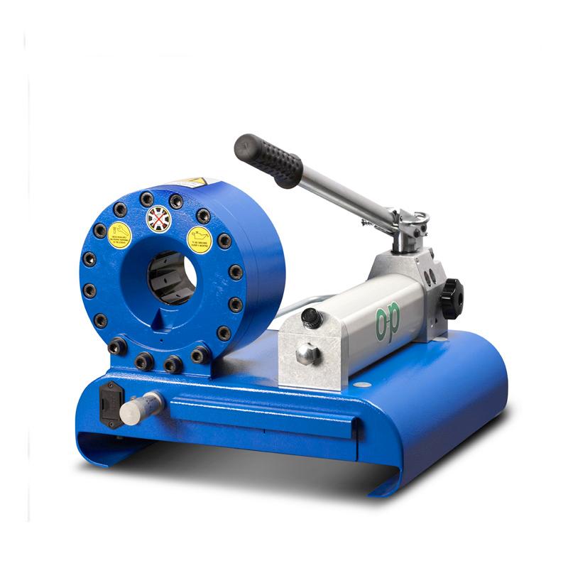 O+P H47 PM manuális tömlőprés, tömlőroppantó, hidraulika tömlő gyártó gép