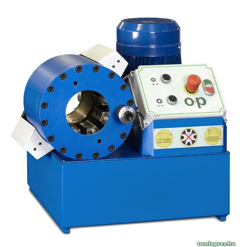 OP H83E EL elektromos tömlõprés, tömlõroppantó, hidraulika tömlõ gyártó gép
