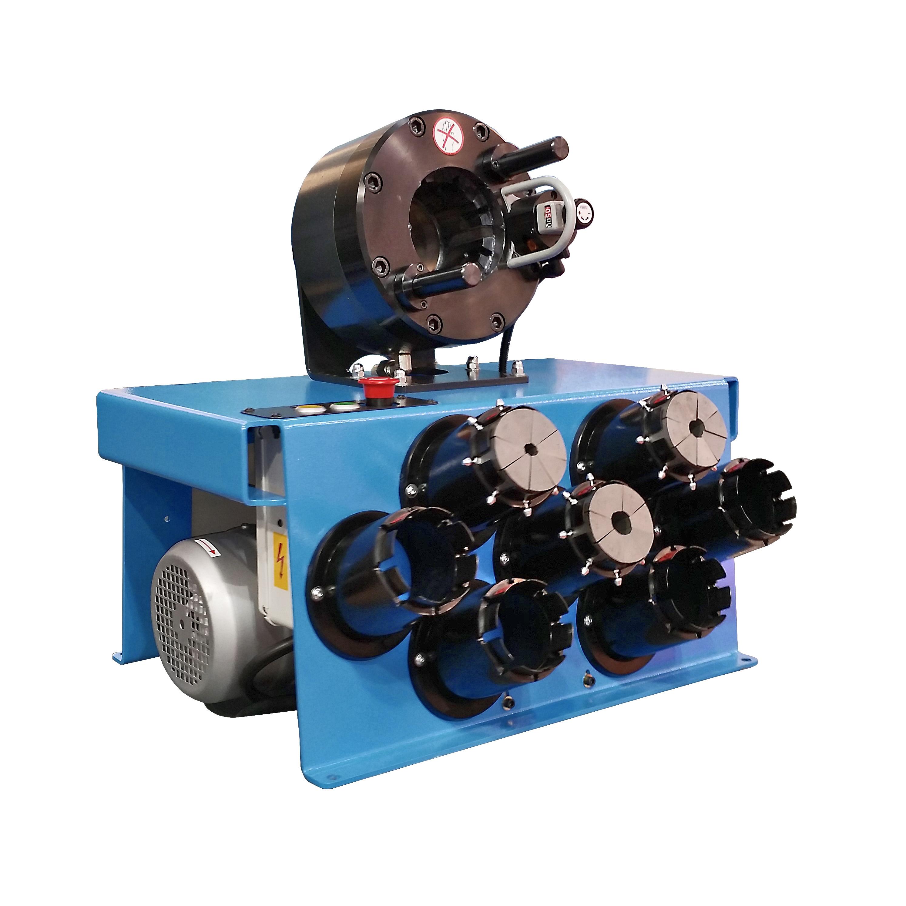 Techmaflex S Crimp 137 elektromos tömlõprés, tömlõroppantó, hidraulika tömlõ gyártó gép