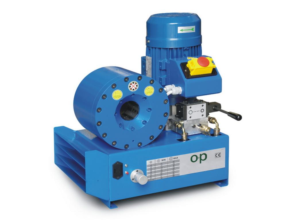 O+P H47E EL elektromos tömlőprés, tömlőroppantó, hidraulika tömlő gyártó gép