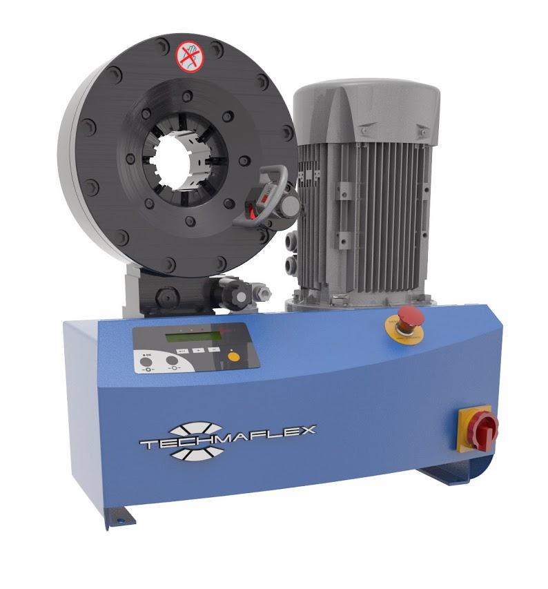 Techmaflex S Crimp 240 elektromos tömlőprés, tömlőroppantó, hidraulika tömlő gyártó gép
