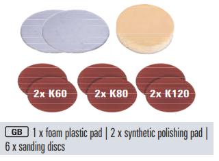 Einhell BT-PO 1100 kiegészítõ készlet szivacs és csiszolópapír